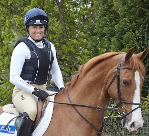 Pippa Funnell wearing the Champion Freedom body protector