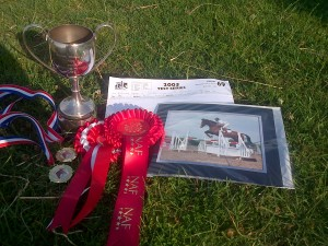 In dressage even the prizes are blingy!