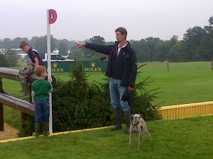 Discussing lines at the Rolex Combination, with help from all the family