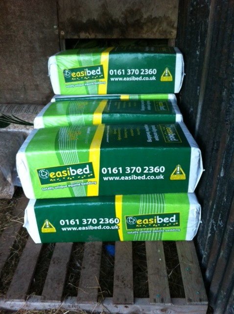 My stack of Easibed - you can fit eight of these bales in a VW Golf!