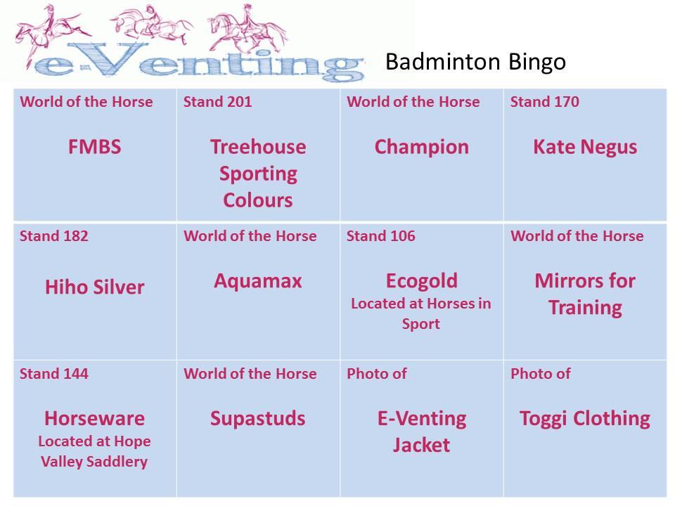 Badminton Bingo