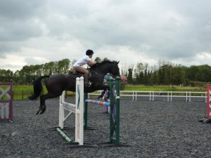 This training session was whilst I was competing at BE100 - the fences were all around the 1.10-1.15 mark.
