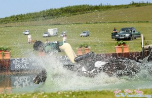 Wiggy Channer takes a dunking in the notorious Barbury water