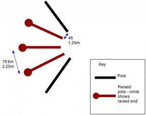 Fan of poles - click to enlarge image
