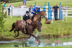 Jockeys Vs Eventers Vs Showjumpers Vs Hunt relay. The JCB Challenge is not to be missed