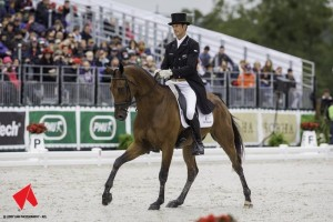 Sir Mark Todd and Leonidas II at the World Equestrian Games 2014 - Copy